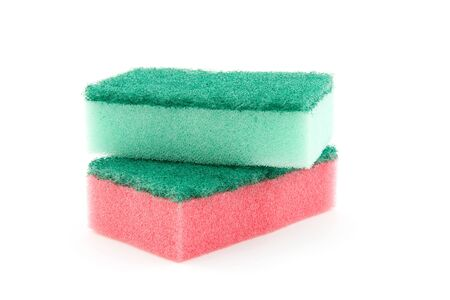 cleaness: Two sanding sponge isolated on white background