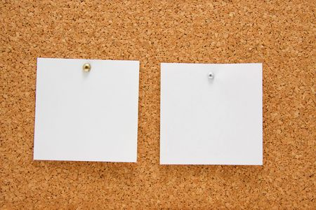 memo board with two empty post-it photo