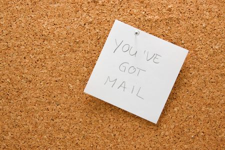 you've got mail: memo board with message: youve got mail