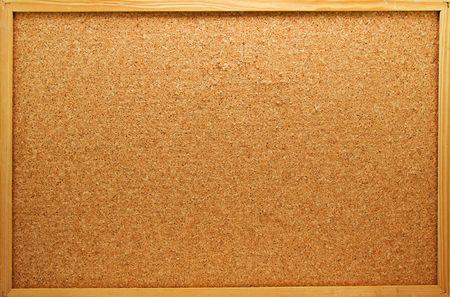 Empty memo board on white background