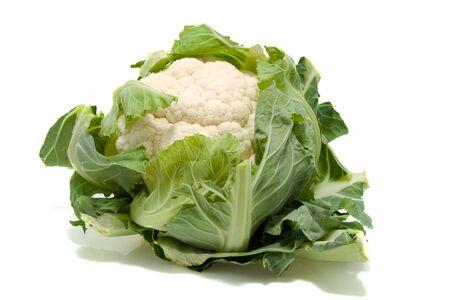 fresh dutch Cauliflower isolated on white background Stock Photo - 5070533