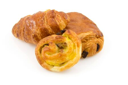 frans: Different kinds of Frans bread: croissant, Cinnamon roll and chocolate bread