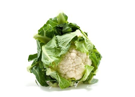 Fresh Dutch cauliflower isolated on white background photo
