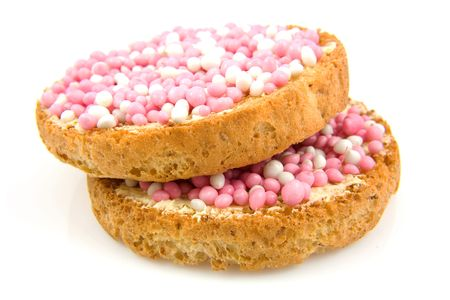 biscotte: Rusk with pink and white mice, its a girl!