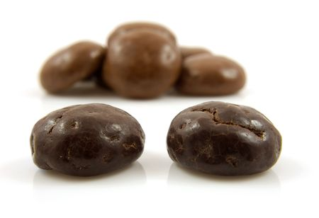Couple of chocolate ginger nuts in closeup, also known as pepernoten, a typical dutch treat for Sinterklaas Stock Photo - 5823830
