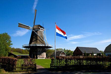 Dutch windmill near Apple in the Netherlands photo