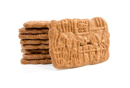 speculaas: Dutch speculaas biscuit isolated on white background
