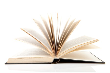 open book isolated on white background Stock Photo - 7878422