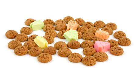 Typical dutch sweets: pepernoten (ginger nuts) for a celebration at 5 december in the Netherlands Stock Photo - 8104651