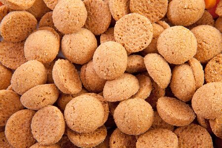ginger nuts: background of typical dutch sweets: pepernoten (ginger nuts) for a celebration at 5 december in the Netherlands