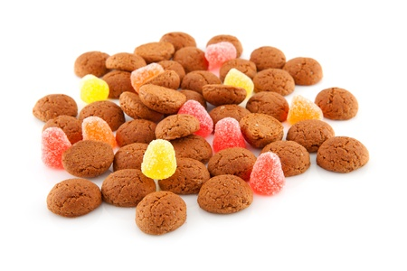 Typical dutch sweets: pepernoten (ginger nuts) for a celebration at 5 december in the Netherlands Stock Photo - 8409586