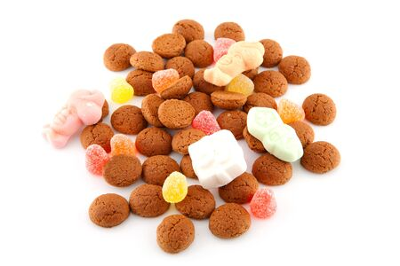'5 december': Typical dutch sweets: pepernoten (ginger nuts) for a celebration at 5 december in the Netherlands Stock Photo