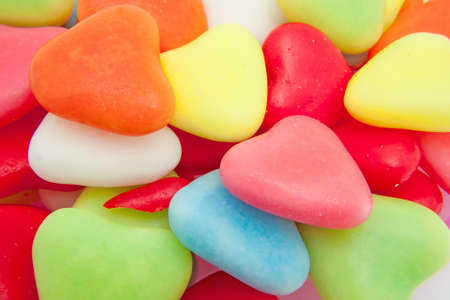 candy hearts: candy in shape of hearts can be used as background