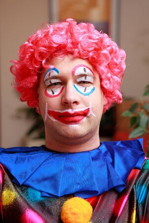 colorful funny Clowns face in closeup Stock Photo - 8818290