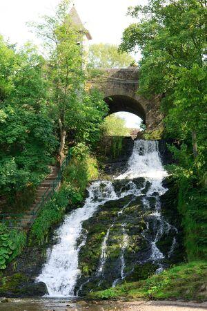 coo: beautiful waterfall by Coo in Belgium Stock Photo