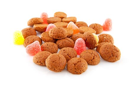 Typical dutch sweets: pepernoten (ginger nuts) for Sinterklaas; celebration at 5 december in the Netherlands Stock Photo - 11554674