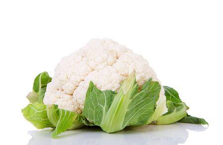 fresh dutch Cauliflower isolated on white background photo