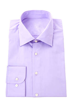 Purple classic business shirt over white background photo