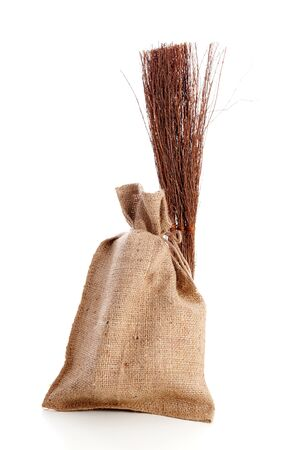 Jute bag and roe: Typical Dutch objects for Sinterklaas; celebration at 5 december in the Netherlands Stock Photo - 16464706