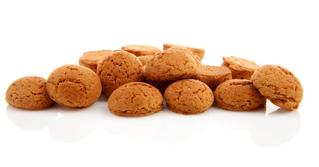 pile of ginger nuts, pepernoten isolated on white background. Typical Dutch candy for Sinterklaas event in december Stock Photo - 17807211