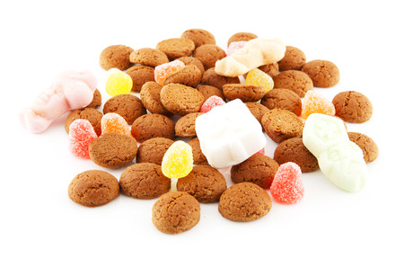 Typical dutch sweets  pepernoten  ginger nuts  for a celebration at 5 december in the Netherlands photo
