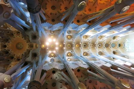 familia: Detail roof of Sagrada Familia, famous landmark in Spain