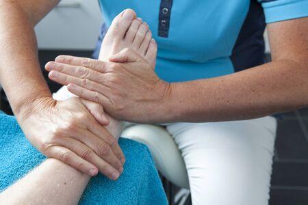chiropodist: Massage of feet by pedicure