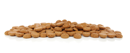 5 december: Typical Dutch sweets: pepernoten (ginger nuts) for Sinterklaas; celebration at 5 december in the Netherlands Stock Photo