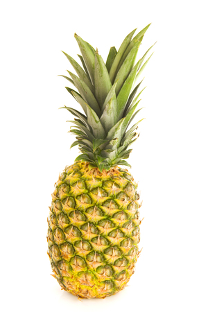 One fresh isolated pineapple over white background Stock Photo