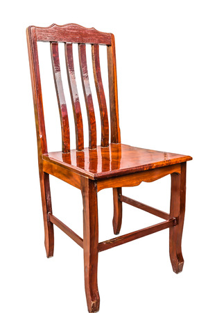 wood chair isolate