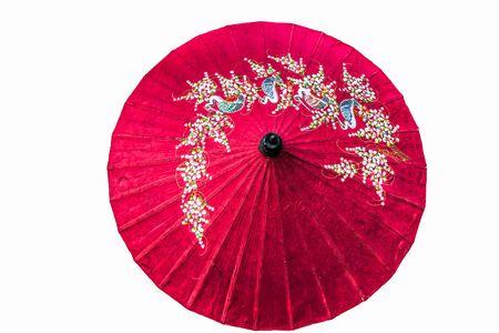paper umbrella isolated photo