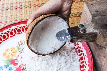 to scrape: scrape coconut