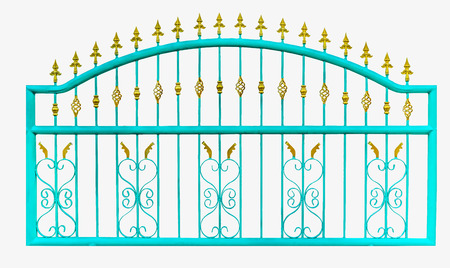 metal fence: Metal fence ,isolate,white background