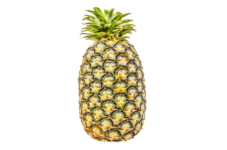 tuft: a large juicy tropical fruit consisting of aromatic edible yellow flesh surrounded by a tough segmented skin and topped with a tuft of stiff leaves.