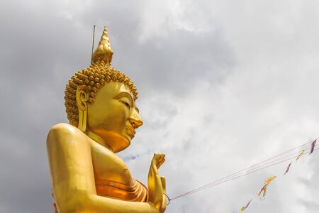 stockphoto: Big Golden Buddha statue in Thailand temple stockphoto