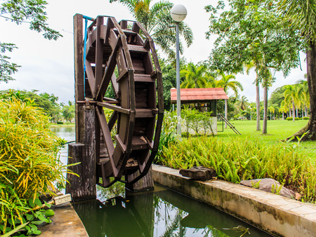 waterwheel: Waterwheel in Wood stock photo