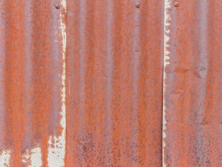 grooved: old zinc texture,rusty corrugated iron metal Stock Photo