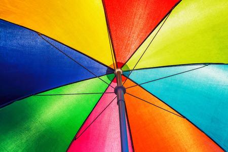 roof: Texture of under Colorful umbrella