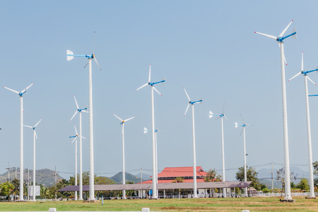 altamont pass: Wind turbines on chang hua man project in thailand.