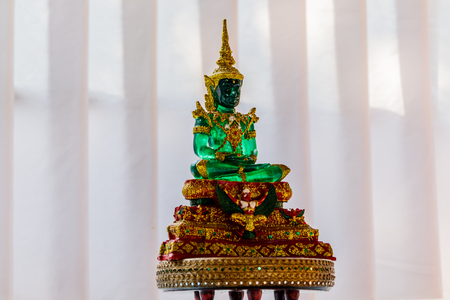 Buddha made of green Jade in the temple