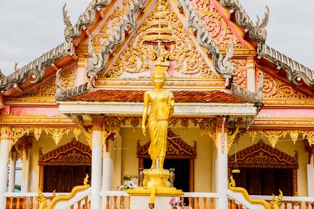 dyllic: Buddha statue at temple  Nakhonphanom Thailand.
