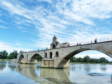 avignon: The bridge of Avignon Stock Photo