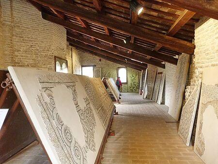 Italy Ravenna, mosaic in the King Theodoric palace
