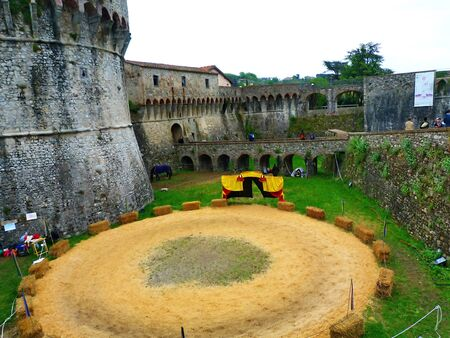 sarzana: Italy, Sarzana, Pisan fortress of Firmafede  Editorial