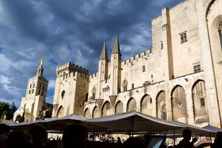 Palace of the Popes in Avignon, France Editorial