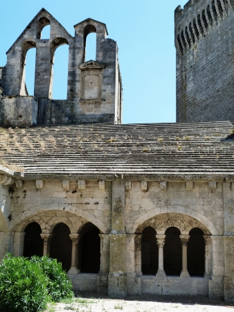 cloister: Cloister  of Montmajour abbey, Provence, France