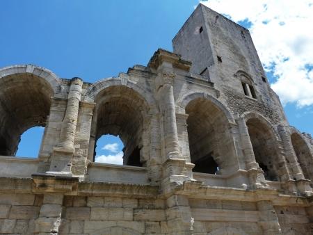 arles: Detail of the amphiteater of Arles