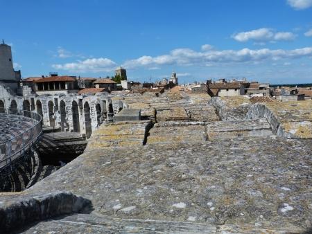 arles: The amphiteater of Arles, France Stock Photo
