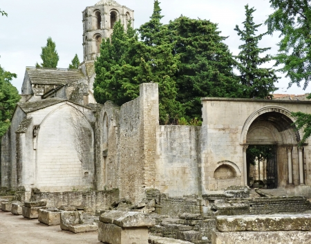 arles: Arles Alyscamps Roman cemetery, Provence, France
