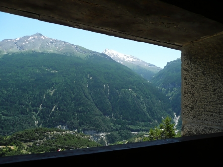 christine: View of the Alps by Fort Marie Christine, French Savoie